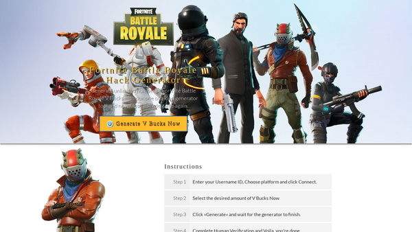 Fortnite 'Free V-Bucks' Scams